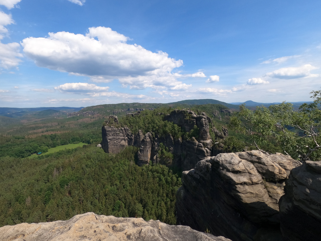 Zu Fuß vom Erzgebirge in die Sächsische Schweiz